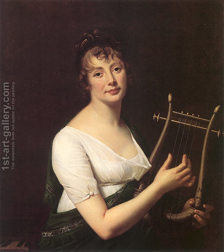 Huge version of Woman with a Lyre 1808