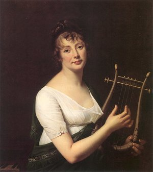 Reproduction oil paintings - Robert-Jacques-Francois-Faust Lefevre - Woman with a Lyre  1808