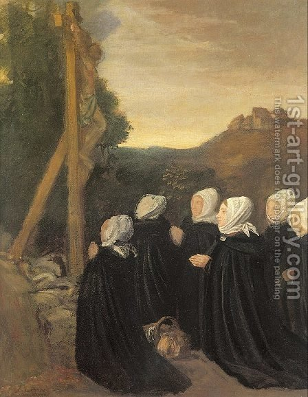 Calvary  1874 by Alphonse Legros - Reproduction Oil Painting