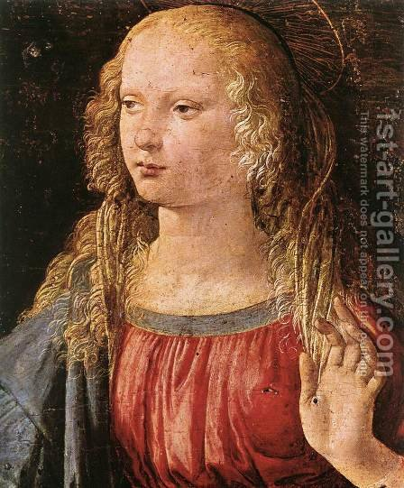 Leonardo Da Vinci: Annunciation (detail 3) 1472-75 - reproduction oil painting
