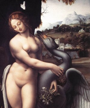 Renaissance - High painting reproductions: Leda (detail) 1508-15