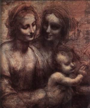 Reproduction oil paintings - Leonardo Da Vinci - Madonna and Child with St Anne and the Young St John (detail) 1507-08