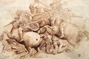 Reproduction oil paintings - Leonardo Da Vinci - The Battle of Anghiari (copy of a detail) 1503-05