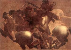 Reproduction oil paintings - Leonardo Da Vinci - The Battle of Anghiari (detail 2) 1503-05