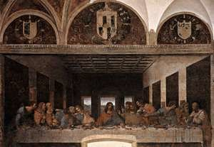 Renaissance - High painting reproductions: The Last Supper (2) 1498