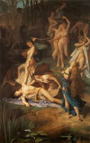 Reproduction oil paintings - Nicolas-Bernard Lepicier - Death of Orpheus  1866