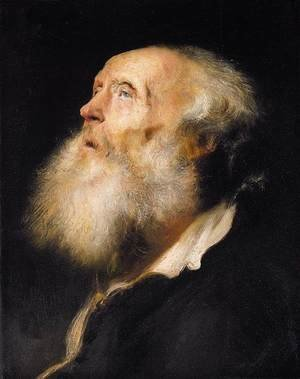 Jan Lievens reproductions - Study of an Old Man c. 1630