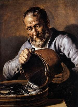 Reproduction oil paintings - Jan Lievens - The Four Elements and Ages of Man:  Water and Old Age c. 1668
