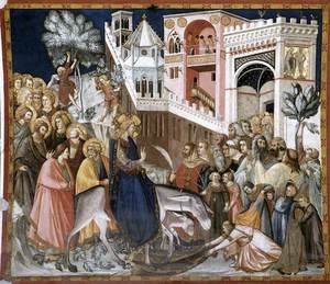 Medieval & Gothic Art painting reproductions: Entry of Christ into Jerusalem c. 1320