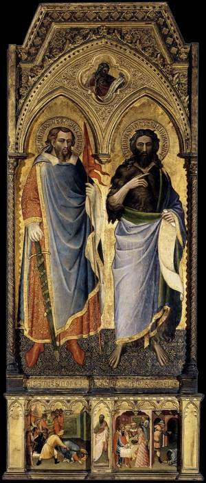 Luca Spinello Aretino reproductions - St Nemesius and St John the Baptist 1385