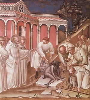 Reproduction oil paintings - Luca Spinello Aretino - Stories from the Legend of St Benedict (detail) 1387