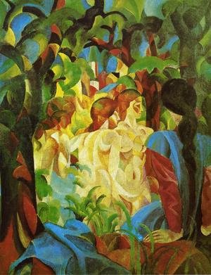 Reproduction oil paintings - August Macke - GIRLS