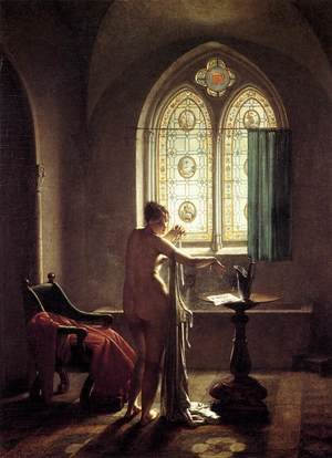 Famous paintings of Furniture: Gothic Bathroom 1810