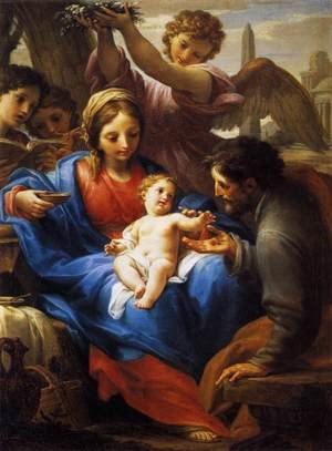 Famous paintings of The Holy Family: Rest during the Flight to Egypt