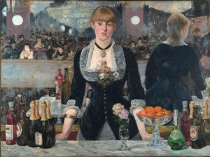 Famous paintings of Fruits: The Bar at the Folies Bergere 1882