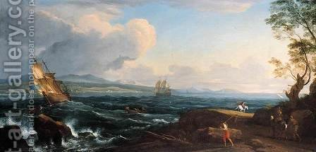 Coastal Landscape by Adrien Manglard - Reproduction Oil Painting