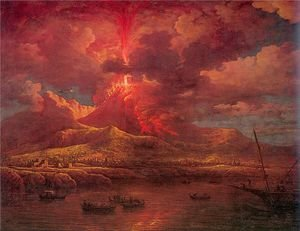 Vesuvius Erupting at Night 1768