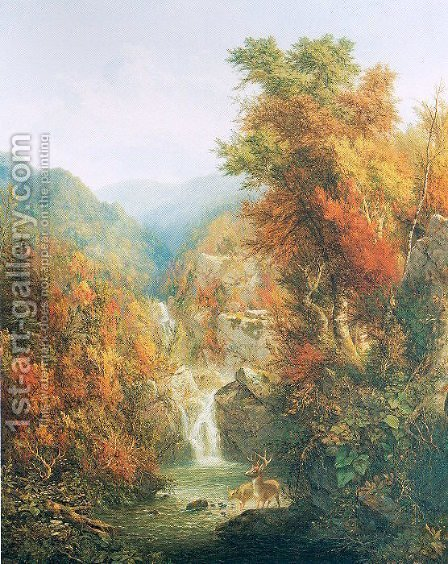 A Wilderness Pool by Homer Dodge Martin - Reproduction Oil Painting