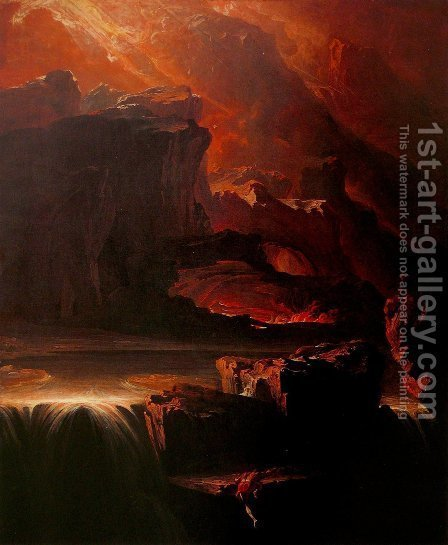 Sadak in Search of the Waters of Oblivion by John Martin - Reproduction Oil Painting