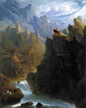 John Martin reproductions - The Bard c. 1817