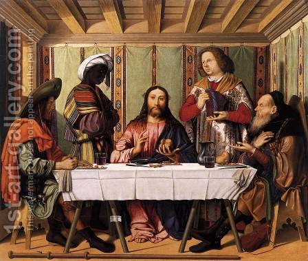 Marco Marziale: Supper at Emmaus 1506 - reproduction oil painting