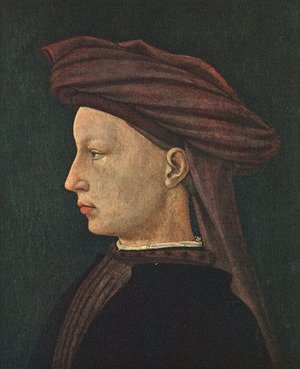 Famous paintings of Men: Profile Portrait of a Young Man 1425