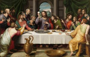 Famous paintings of Christianity: The Last Supper (2) 1560s