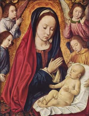 Madonna and Child Adored by Angels c. 1490