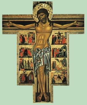 Master of San Francesco Bardi reproductions - Crucifix with scenes from Calvary