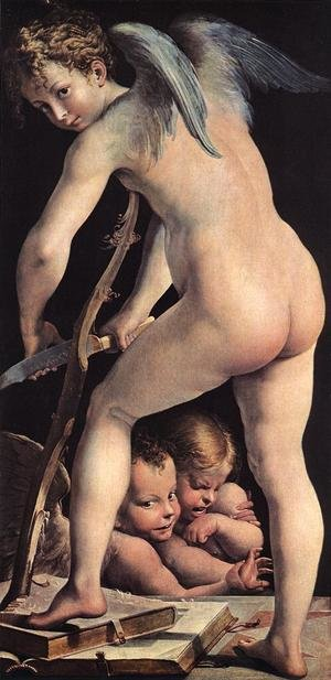 Mannerism painting reproductions: Cupid 1523-24