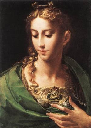 Mannerism painting reproductions: Pallas Athene c. 1539