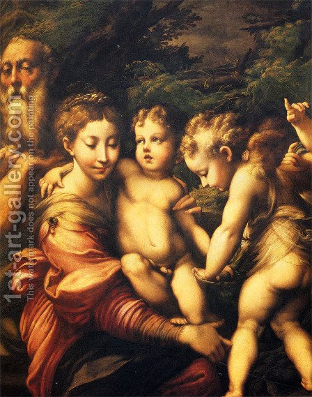 Rest on the Flight to Egypt 1524 by Girolamo Francesco Maria Mazzola (Parmigianino) - Reproduction Oil Painting