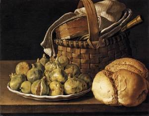 Famous paintings of Bread: Still-Life with Figs 1760s