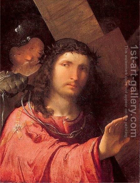 Christ Carrying the Cross 1515 by Altobello Melone - Reproduction Oil Painting
