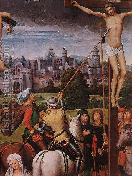 Crucifixion (detail) by Hans Memling - Reproduction Oil Painting