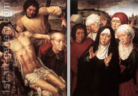 Diptych with the Deposition 1492-94 by Hans Memling - Reproduction Oil Painting