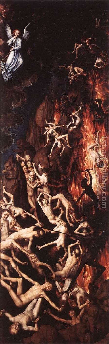 Last Judgment (right panel) 1467-71 by Hans Memling - Reproduction Oil Painting