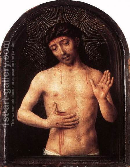 Man of Sorrows  1490 by Hans Memling - Reproduction Oil Painting
