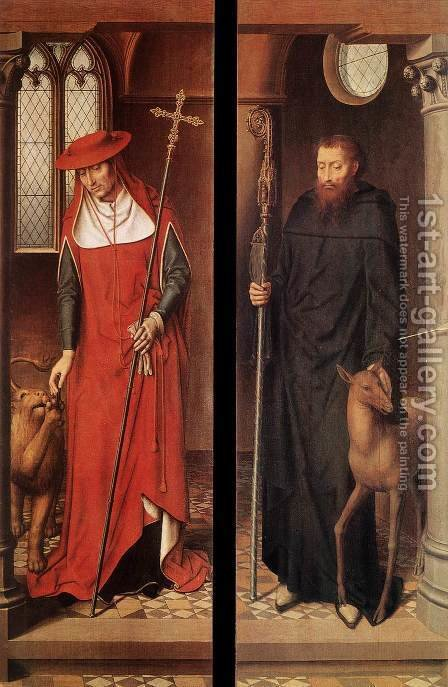 Passion (Greverade) Altarpiece (closed) 1491 by Hans Memling - Reproduction Oil Painting