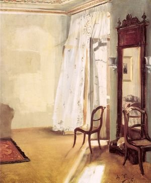Famous paintings of Furniture: The French Window 1845