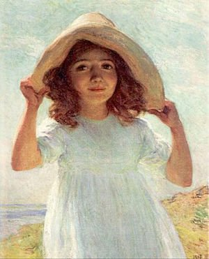 Reproduction oil paintings - Willard Leroy Metcalf - Child in Sunlight