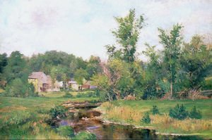 Reproduction oil paintings - Willard Leroy Metcalf - Farm Scene