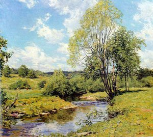 Reproduction oil paintings - Willard Leroy Metcalf - Green Idleness 1911