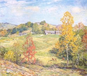 Reproduction oil paintings - Willard Leroy Metcalf - Le Sillon 1911