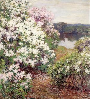 Reproduction oil paintings - Willard Leroy Metcalf - Mountain Laurel 1905