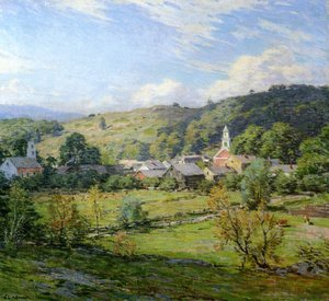 Reproduction oil paintings - Willard Leroy Metcalf - The Village- September Morning 1911