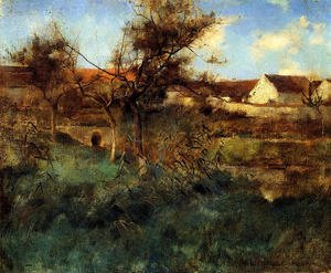 Reproduction oil paintings - Willard Leroy Metcalf - Landscape in Grez 1884