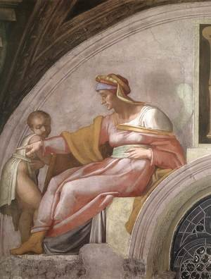 Reproduction oil paintings - Michelangelo - Azor - Zadok (detail-1) 1511-12