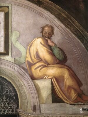 Reproduction oil paintings - Michelangelo - Azor - Zadok (detail-2) 1511-12