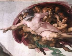 Reproduction oil paintings - Michelangelo - Creation of Adam (detail-2) 1510